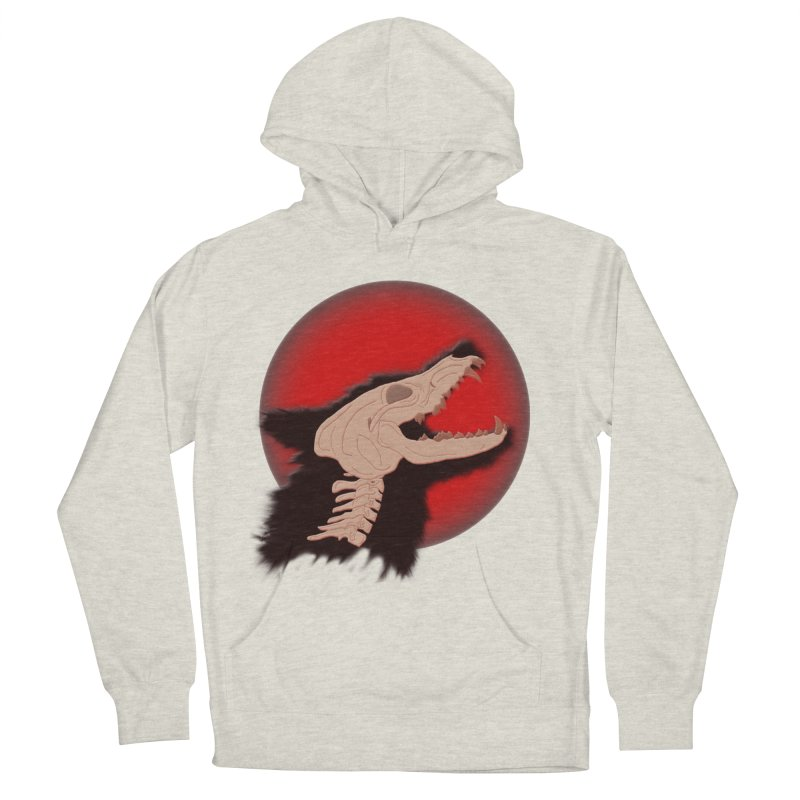 Blood Moon Werewolf Men's French Terry Pullover Hoody by TygerwolfeDesigns's Artist Shop