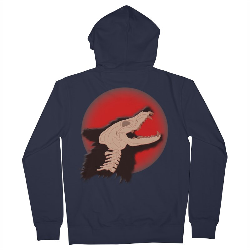 Blood Moon Werewolf Men's Zip-Up Hoody by TygerwolfeDesigns's Artist Shop