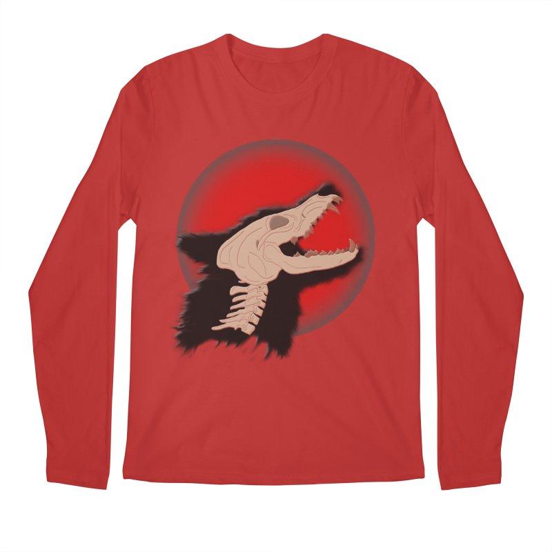 Blood Moon Werewolf Men's Regular Longsleeve T-Shirt by TygerwolfeDesigns's Artist Shop