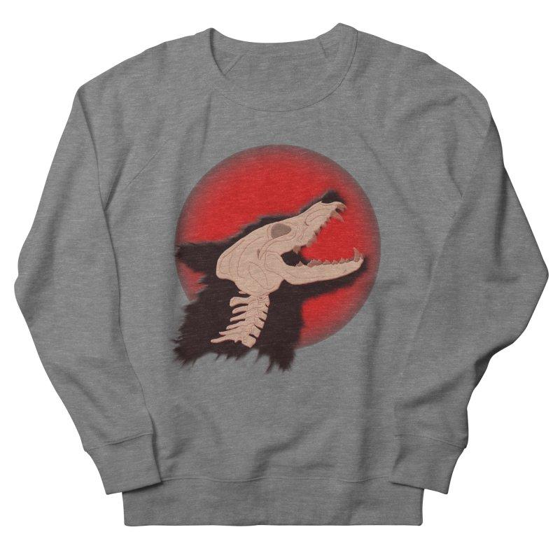 Blood Moon Werewolf Men's French Terry Sweatshirt by TygerwolfeDesigns's Artist Shop