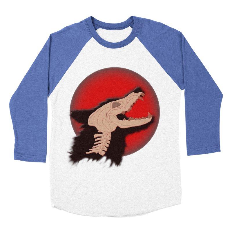 Blood Moon Werewolf Men's Baseball Triblend Longsleeve T-Shirt by TygerwolfeDesigns's Artist Shop