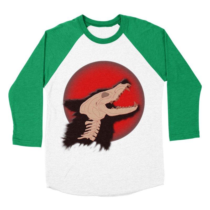 Blood Moon Werewolf Men's Baseball Triblend T-Shirt by TygerwolfeDesigns's Artist Shop