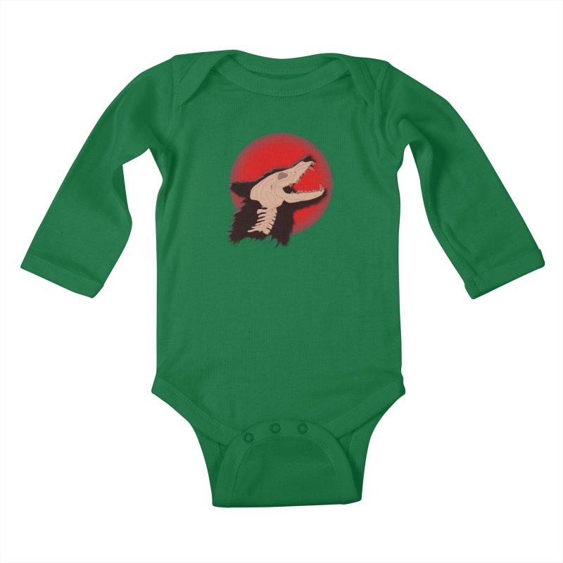Blood Moon Werewolf Kids Baby Longsleeve Bodysuit by TygerwolfeDesigns's Artist Shop
