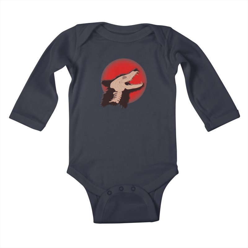 Blood Moon Werewolf Kids Baby Longsleeve Bodysuit by TygerwolfeDesigns's Artist Shop