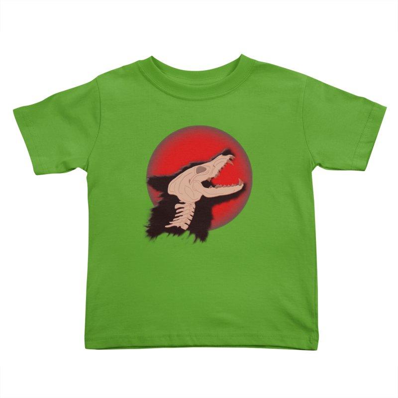 Blood Moon Werewolf Kids Toddler T-Shirt by TygerwolfeDesigns's Artist Shop
