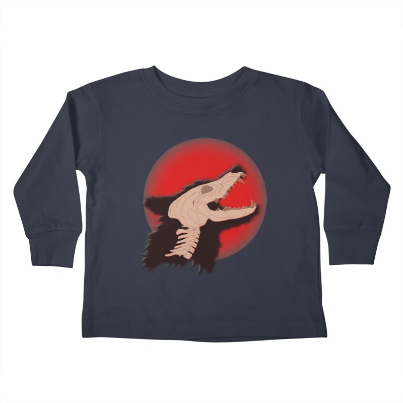 Blood Moon Werewolf Kids Toddler Longsleeve T-Shirt by TygerwolfeDesigns's Artist Shop