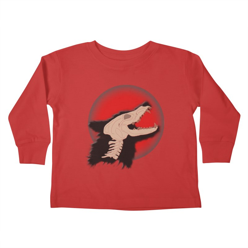 Blood Moon Werewolf Kids Toddler Longsleeve T-Shirt by TygerwolfeDesigns's Artist Shop