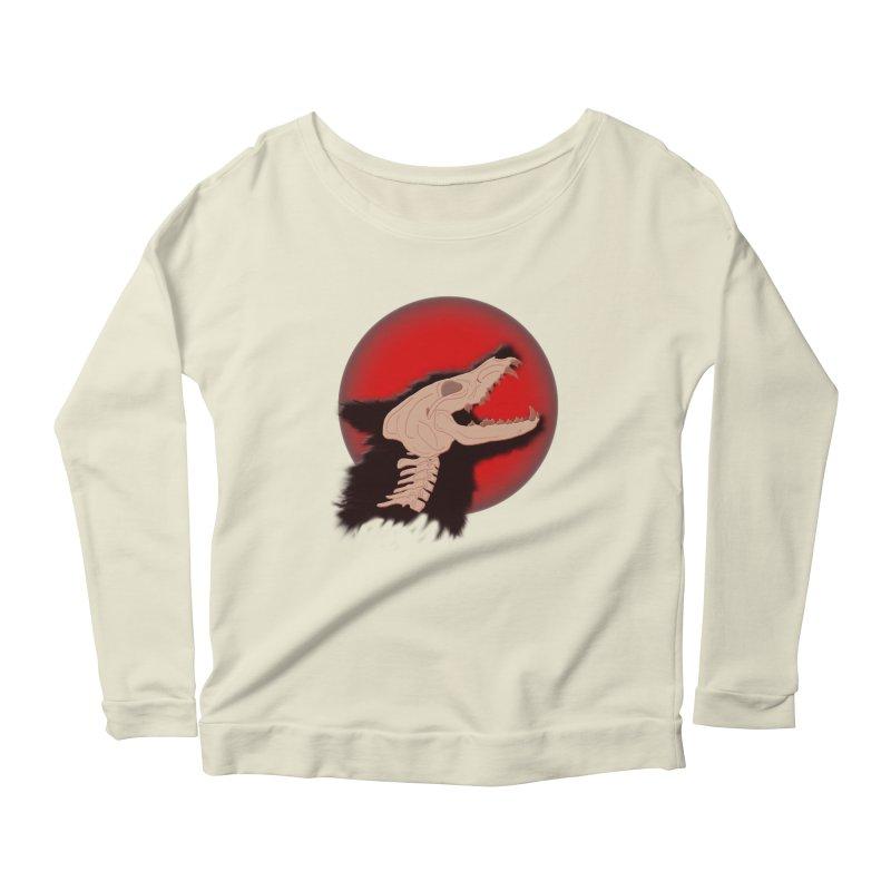 Blood Moon Werewolf Women's Scoop Neck Longsleeve T-Shirt by TygerwolfeDesigns's Artist Shop