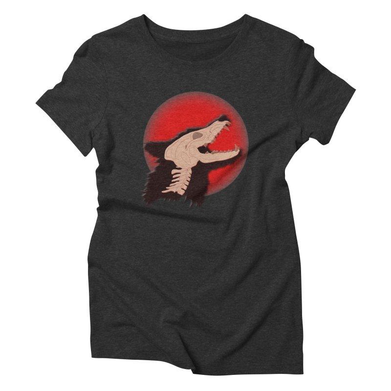 Blood Moon Werewolf Women's Triblend T-Shirt by TygerwolfeDesigns's Artist Shop