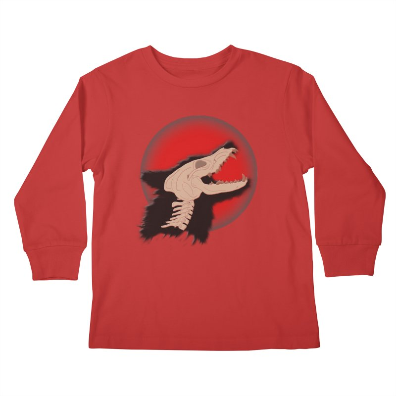 Blood Moon Werewolf Kids Longsleeve T-Shirt by TygerwolfeDesigns's Artist Shop