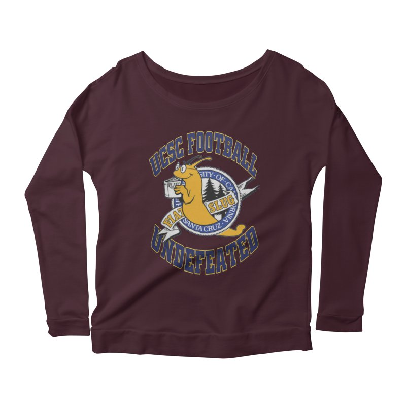 UCSC Slug Football Women's Longsleeve Scoopneck  by UCSCfootball's Artist Shop