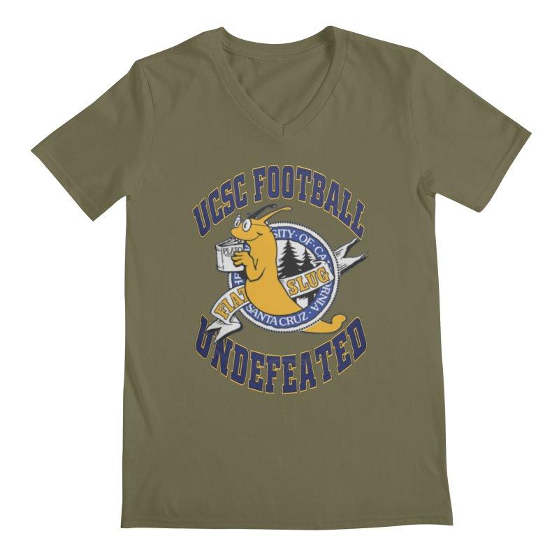 UCSC Slug Football Men's Regular V-Neck by UCSCfootball's Artist Shop