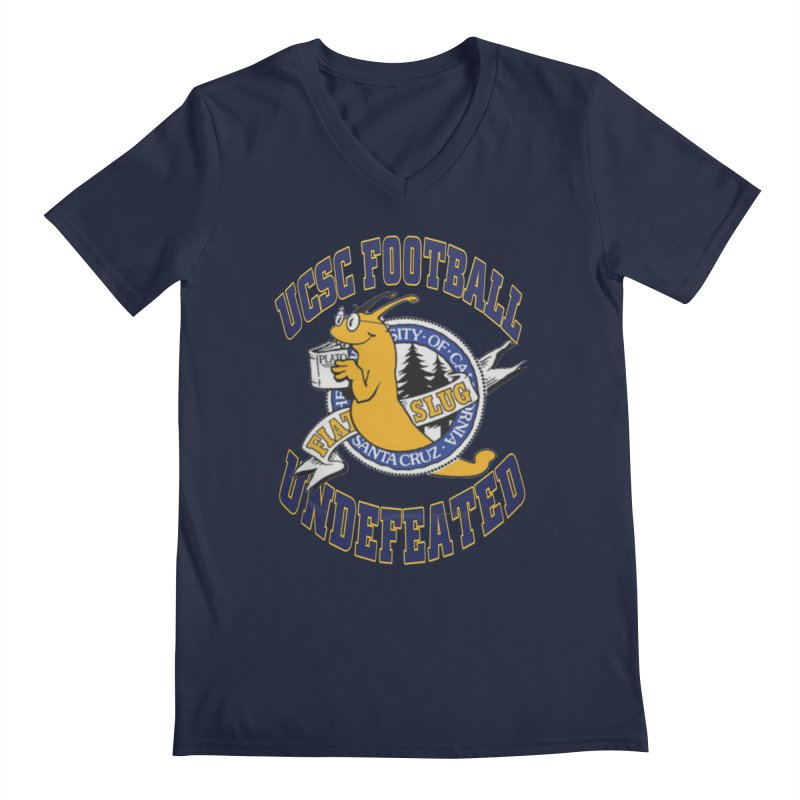 UCSC Slug Football Men's Regular V-Neck by UCSCfootball's Artist Shop