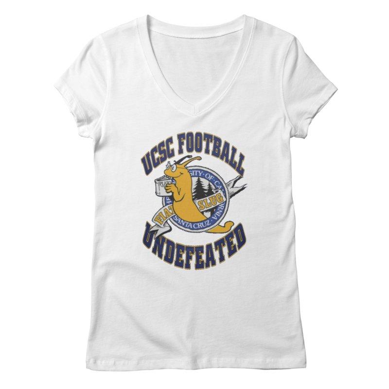 UCSC Slug Football Women's V-Neck by UCSCfootball's Artist Shop