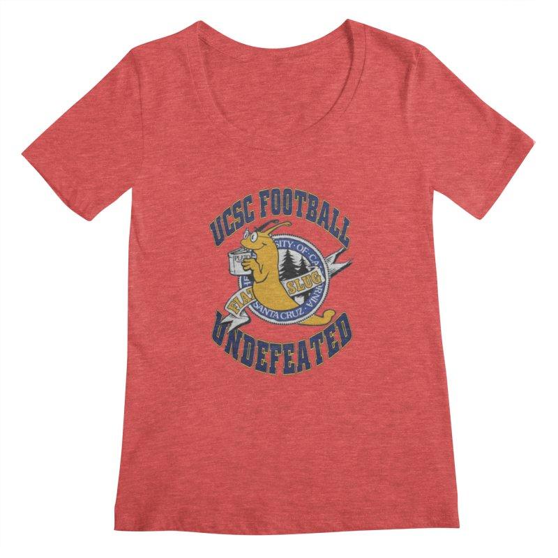 UCSC Slug Football Women's Scoopneck by UCSCfootball's Artist Shop