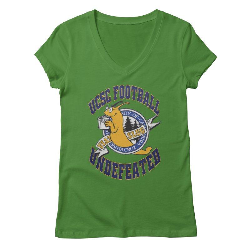 UCSC Slug Football Women's Regular V-Neck by UCSCfootball's Artist Shop