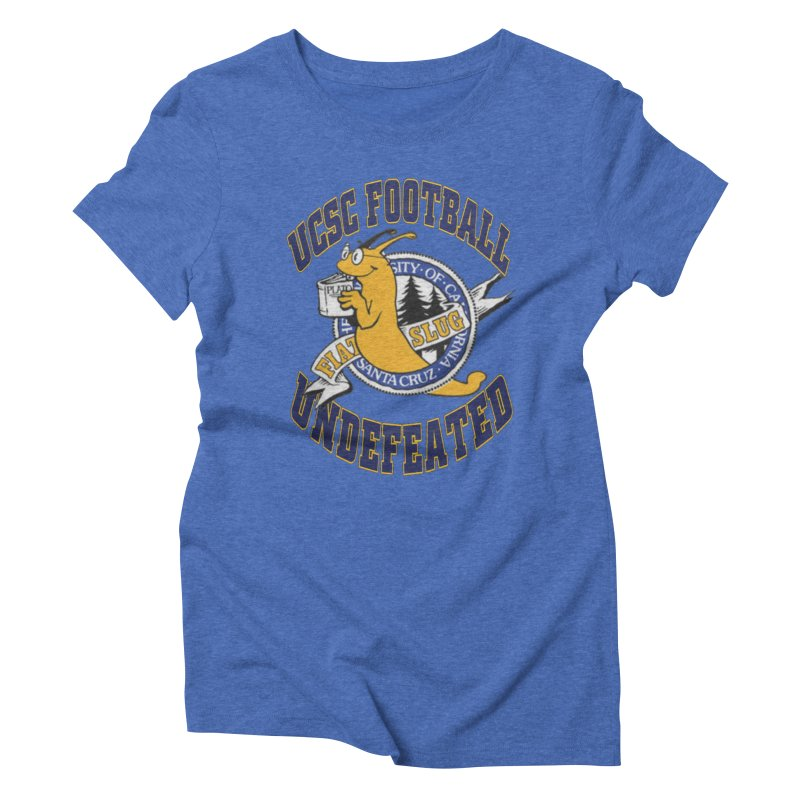 UCSC Slug Football Women's Triblend T-Shirt by UCSCfootball's Artist Shop