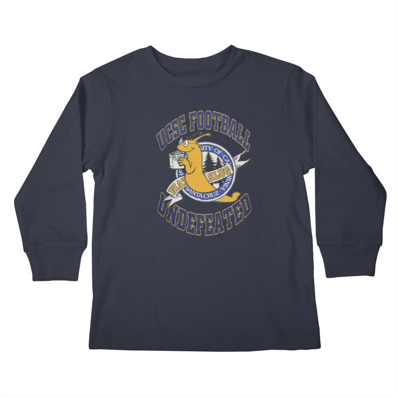 UCSC Slug Football Kids Longsleeve T-Shirt by UCSCfootball's Artist Shop