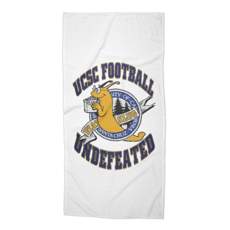 UCSC Slug Football Accessories Beach Towel by UCSCfootball's Artist Shop