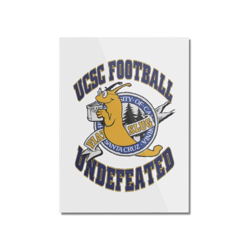 UCSC Slug Football Home Mounted Acrylic Print by UCSCfootball's Artist Shop