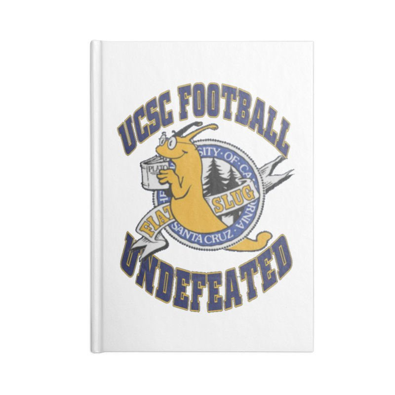 UCSC Slug Football Accessories Lined Journal Notebook by UCSCfootball's Artist Shop