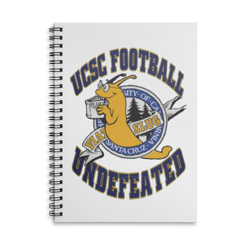 UCSC Slug Football Accessories Lined Spiral Notebook by UCSCfootball's Artist Shop