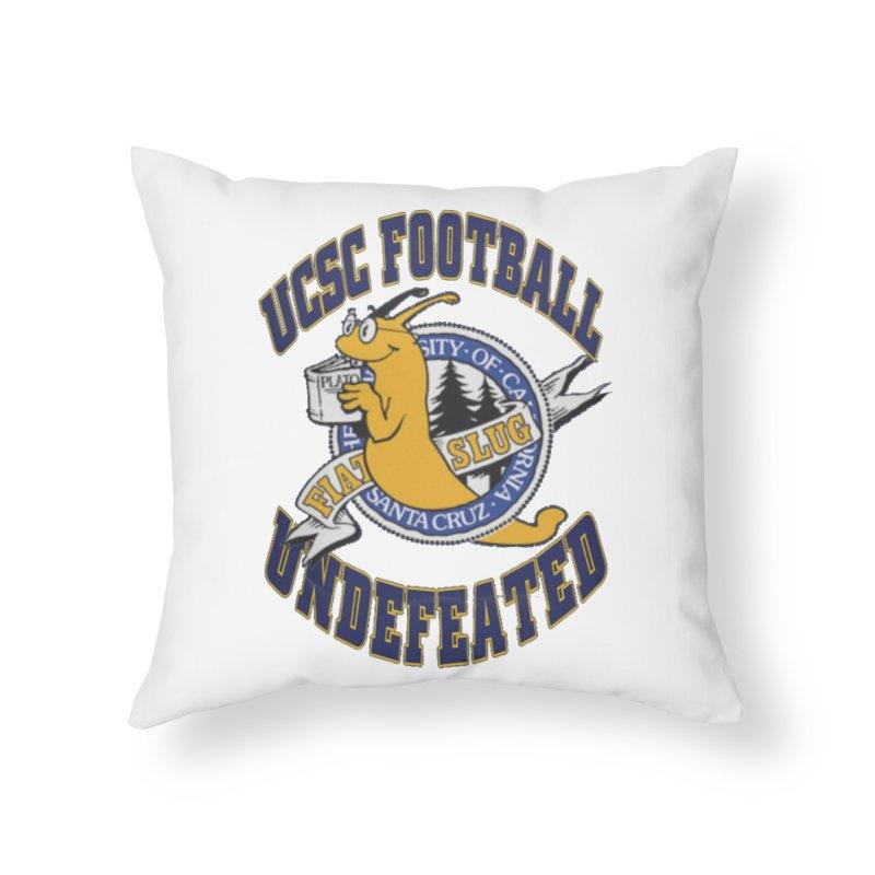 UCSC Slug Football Home Throw Pillow by UCSCfootball's Artist Shop