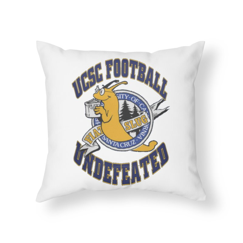 UCSC Slug Football Home Throw Pillow by UCSCfootball's Artist Shop