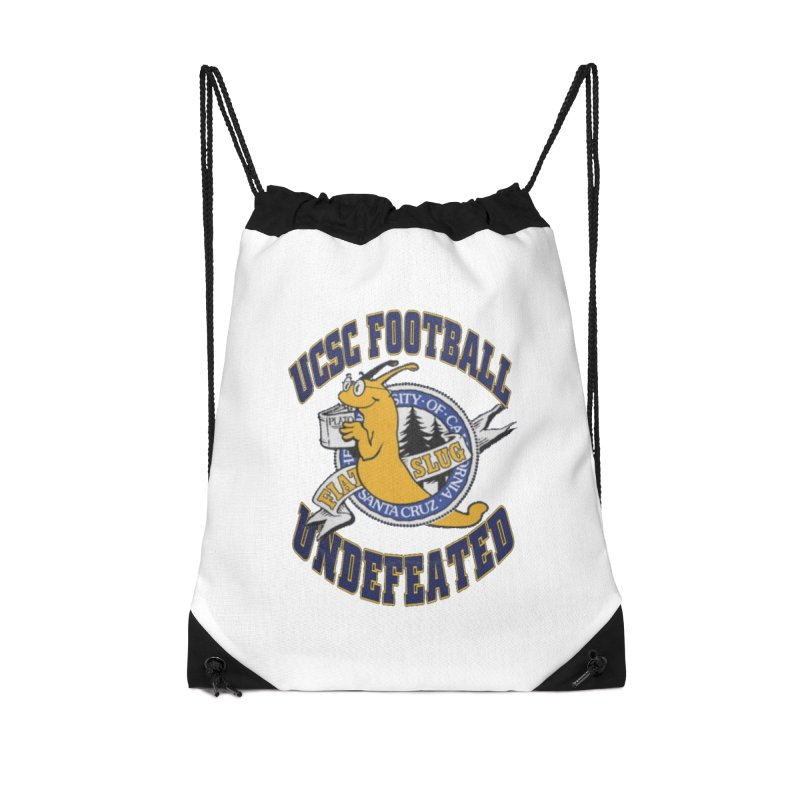 UCSC Slug Football Accessories Drawstring Bag Bag by UCSCfootball's Artist Shop