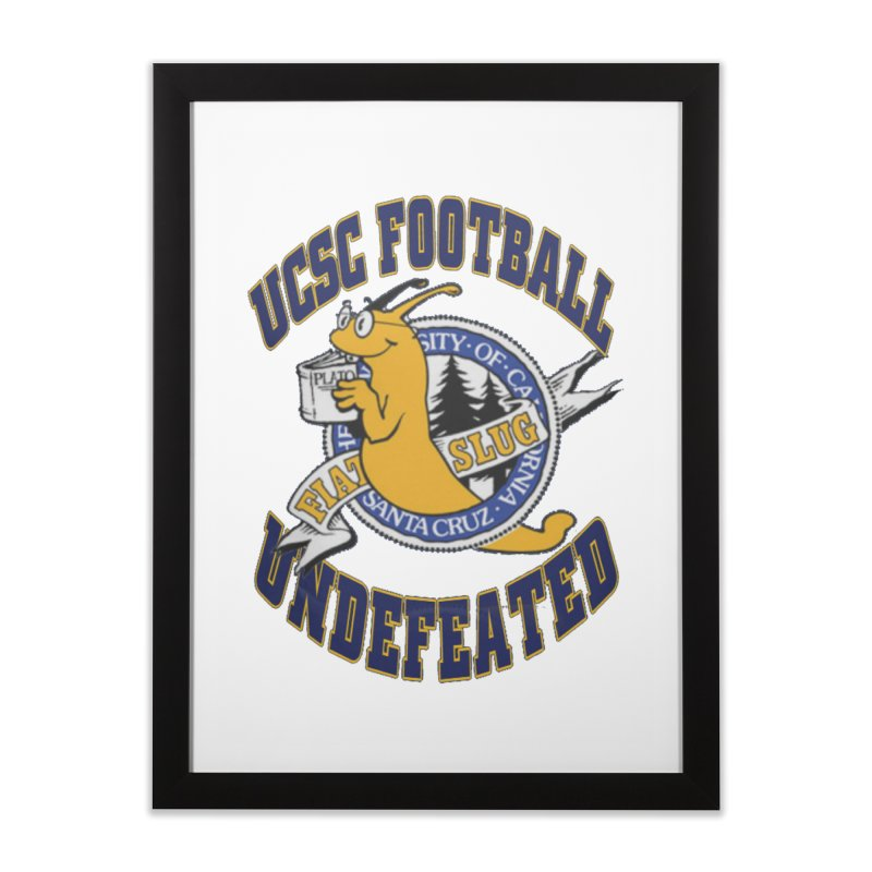 UCSC Slug Football Home Framed Fine Art Print by UCSCfootball's Artist Shop