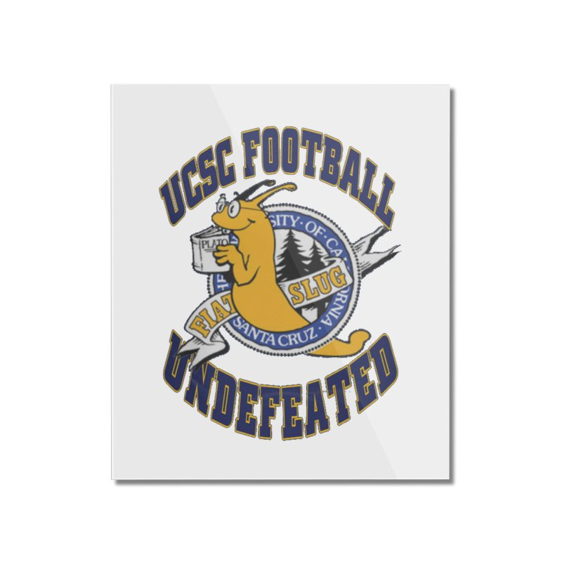 UCSC Slug Football Home Mounted Acrylic Print by UCSCfootball's Artist Shop