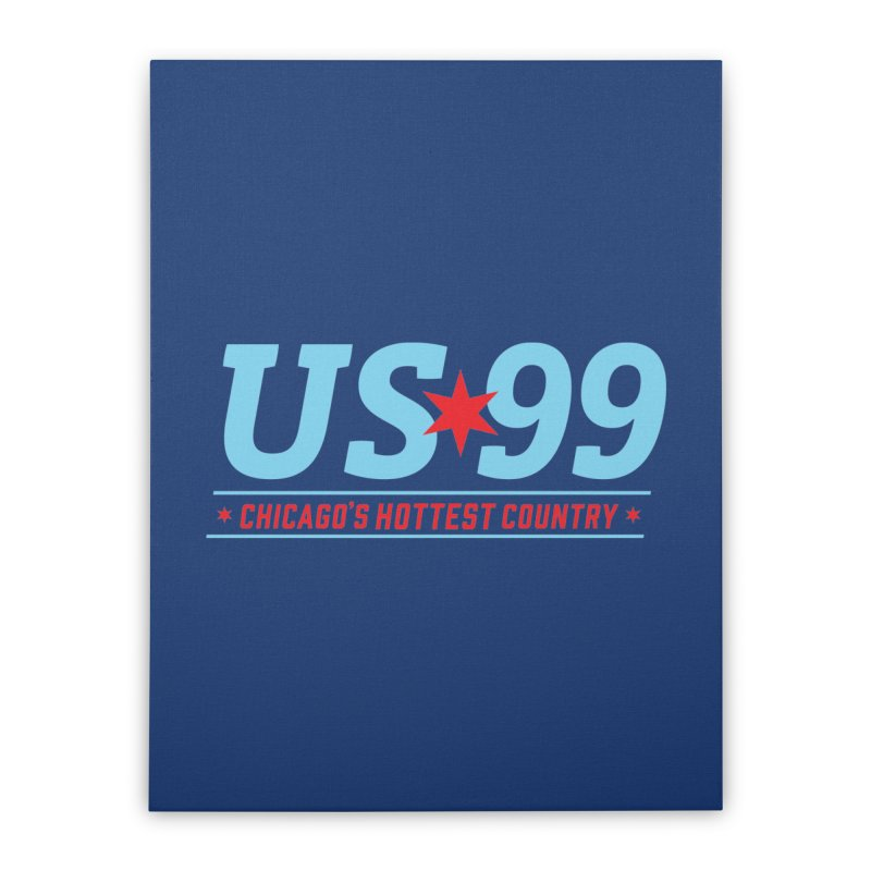 US99 Logo Home Stretched Canvas by US99's Artist Shop