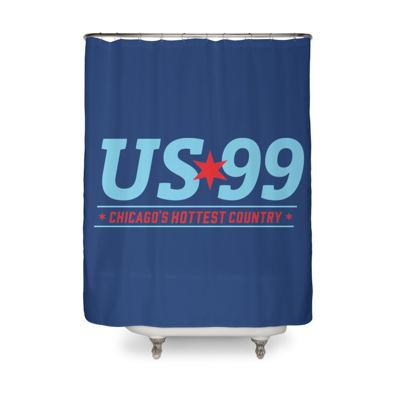 US99 Logo Home Shower Curtain by US99's Artist Shop