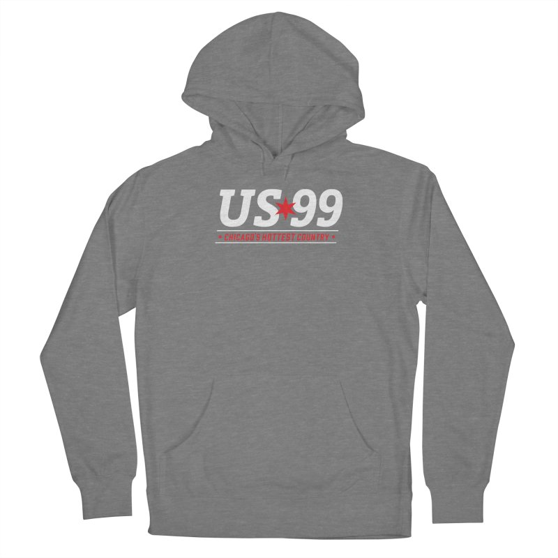 US99 Logo White Women's Pullover Hoody by US99's Artist Shop