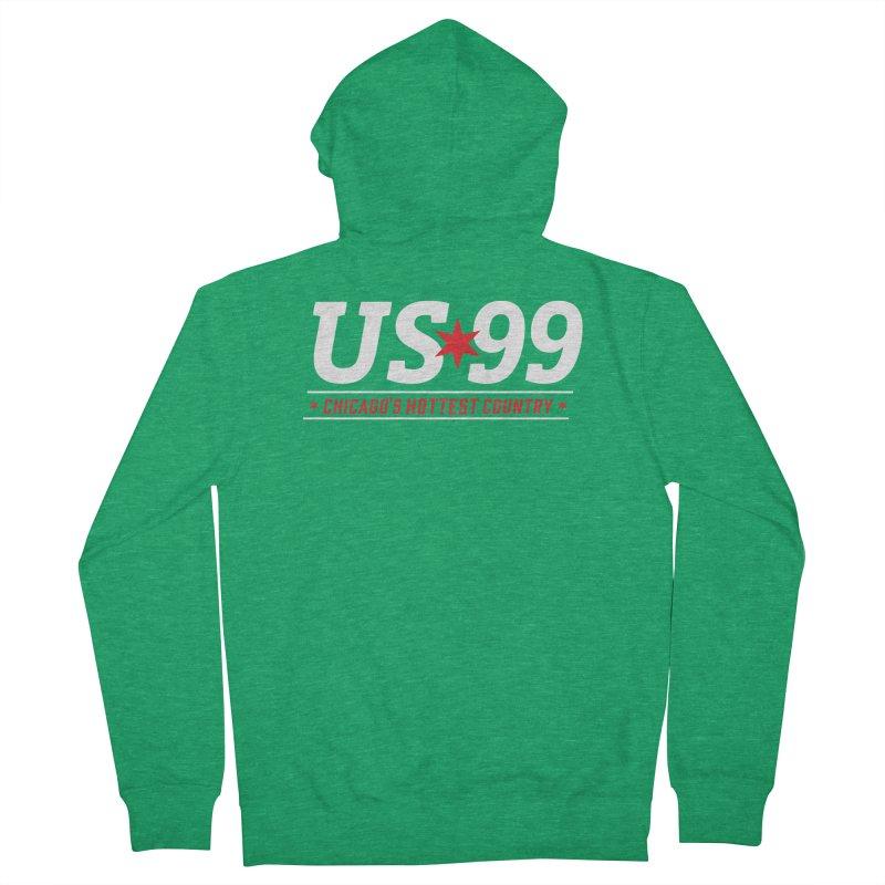 US99 Logo White Women's Zip-Up Hoody by US99's Artist Shop