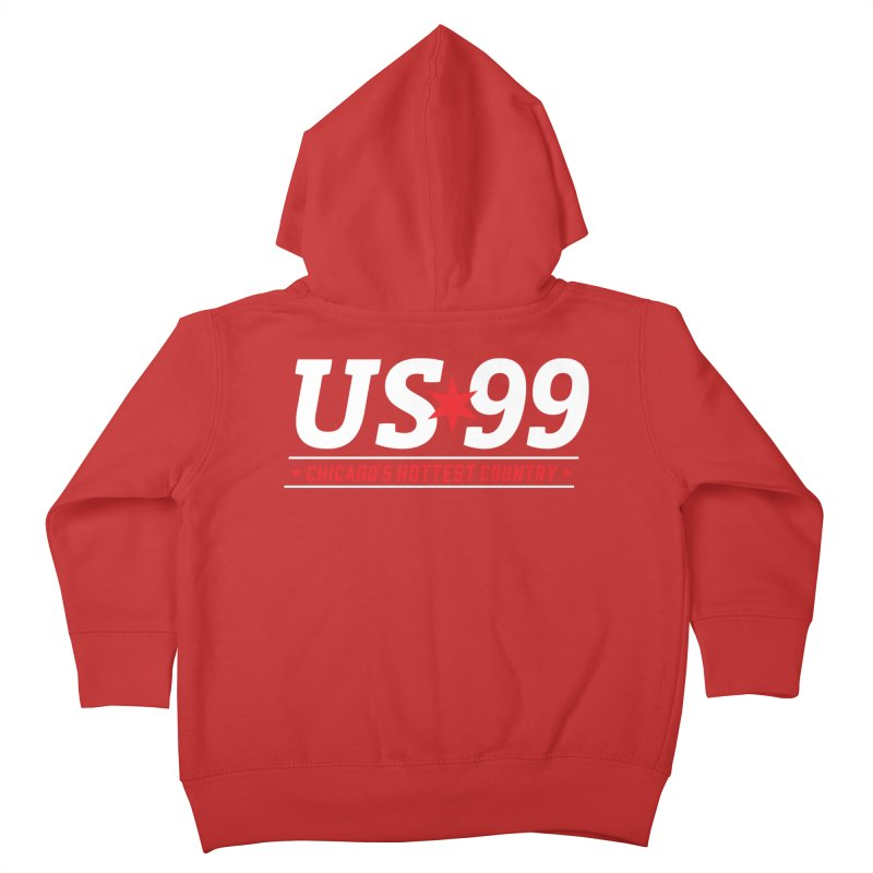 US99 Logo White Kids Toddler Zip-Up Hoody by US99's Artist Shop