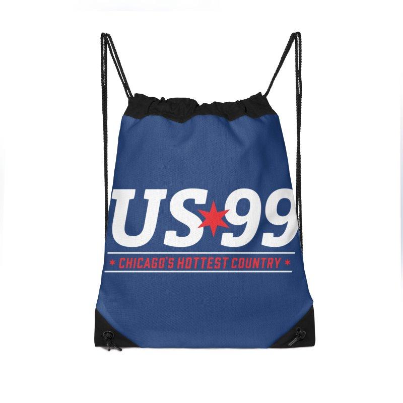 US99 Logo White Accessories Bag by US99's Artist Shop
