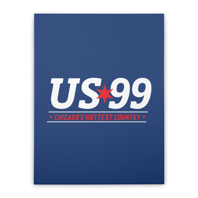 US99 Logo White Home Stretched Canvas by US99's Artist Shop