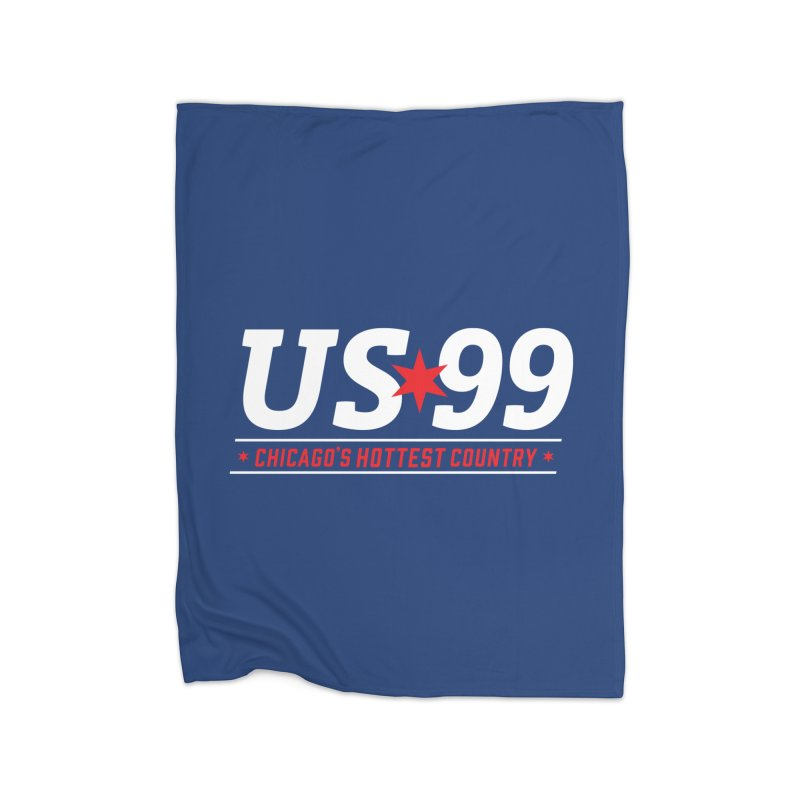 US99 Logo White Home Blanket by US99's Artist Shop
