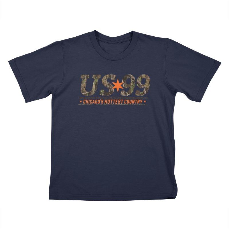 US99 Camo Kids T-Shirt by US99's Artist Shop
