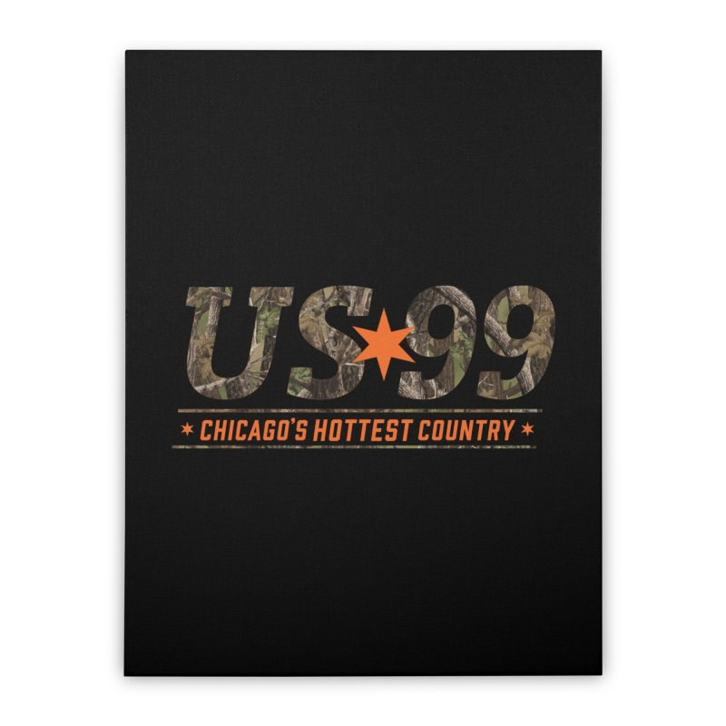 US99 Camo Home Stretched Canvas by US99's Artist Shop