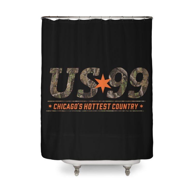 US99 Camo Home Shower Curtain by US99's Artist Shop