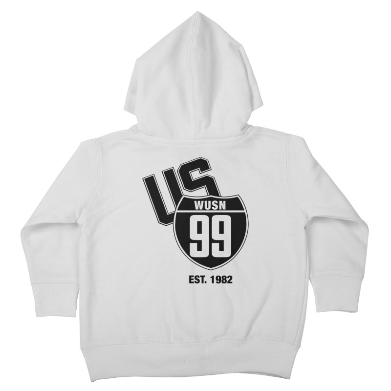 US99 classic design Black Kids Toddler Zip-Up Hoody by US99's Artist Shop