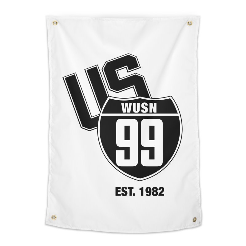 US99 classic design Black Home Tapestry by US99's Artist Shop