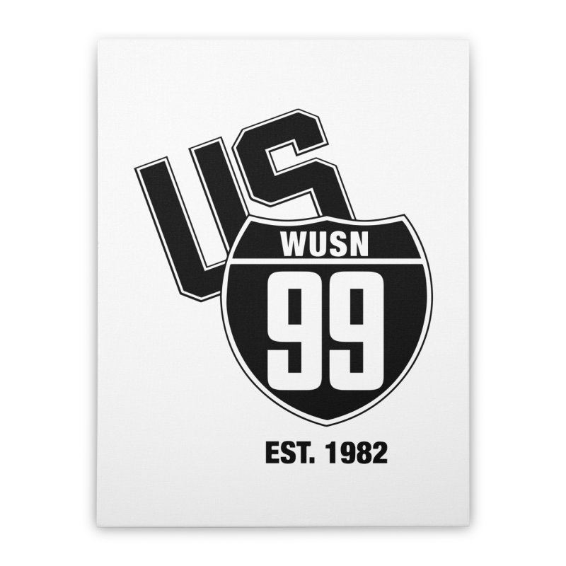 US99 classic design Black Home Stretched Canvas by US99's Artist Shop