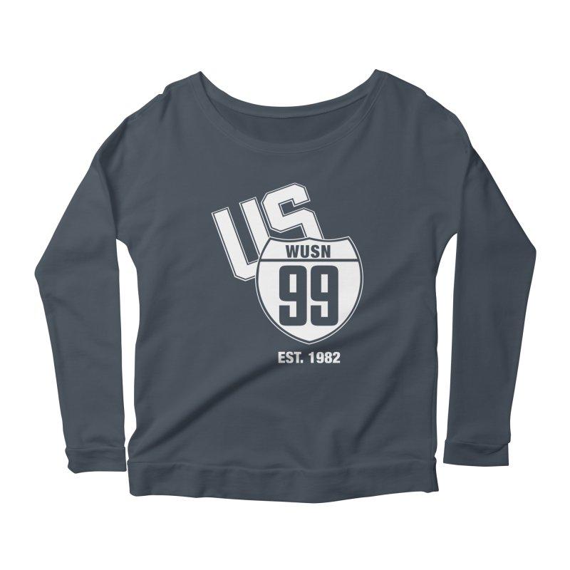 US99 classic design White Women's Longsleeve T-Shirt by US99's Artist Shop
