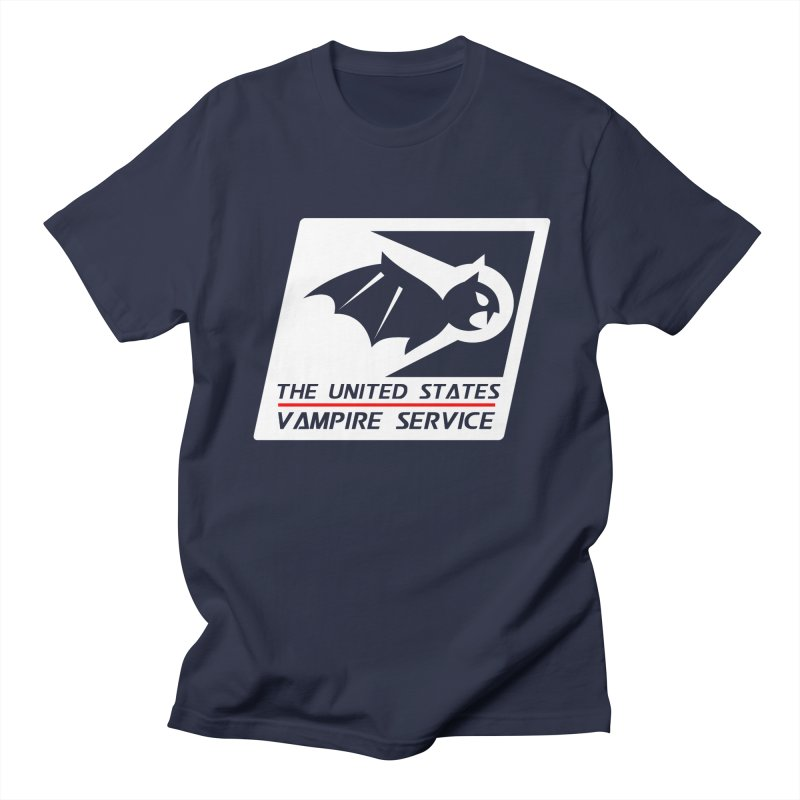USVS Logo in Men's T-Shirt Navy by The United States Vampire Service Shop