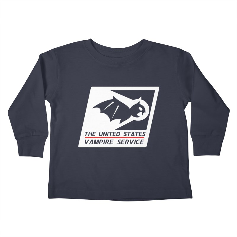 USVS Logo Kids Toddler Longsleeve T-Shirt by The United States Vampire Service Shop