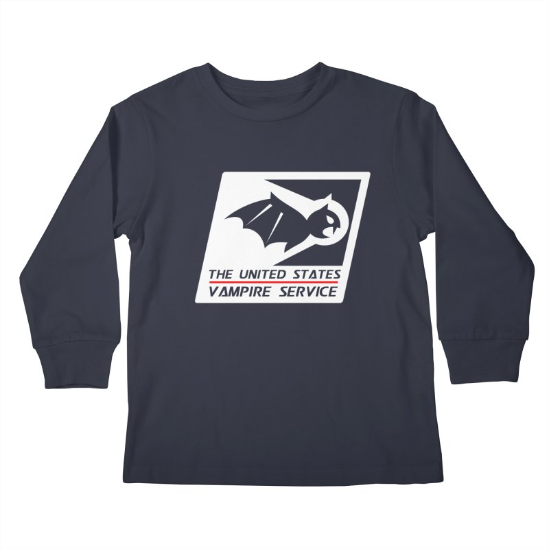 USVS Logo Kids Longsleeve T-Shirt by The United States Vampire Service Shop