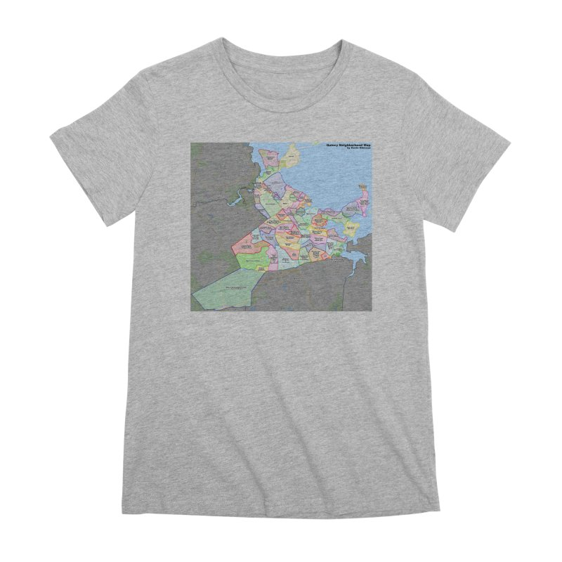 Quincy Neighborhood Map Women's Premium T-Shirt by The United States Vampire Service Shop